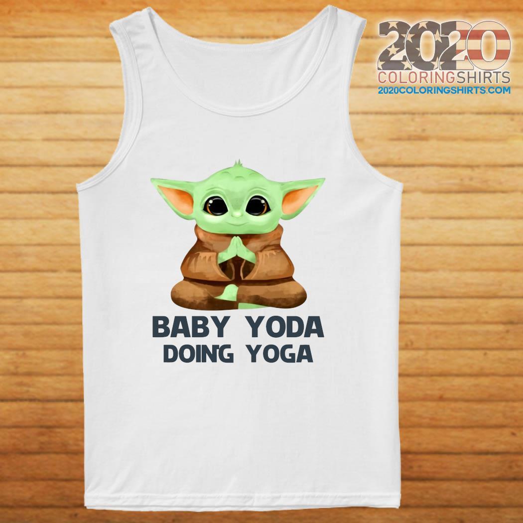 Baby Yoda Doing Yoga Shirt tanktop