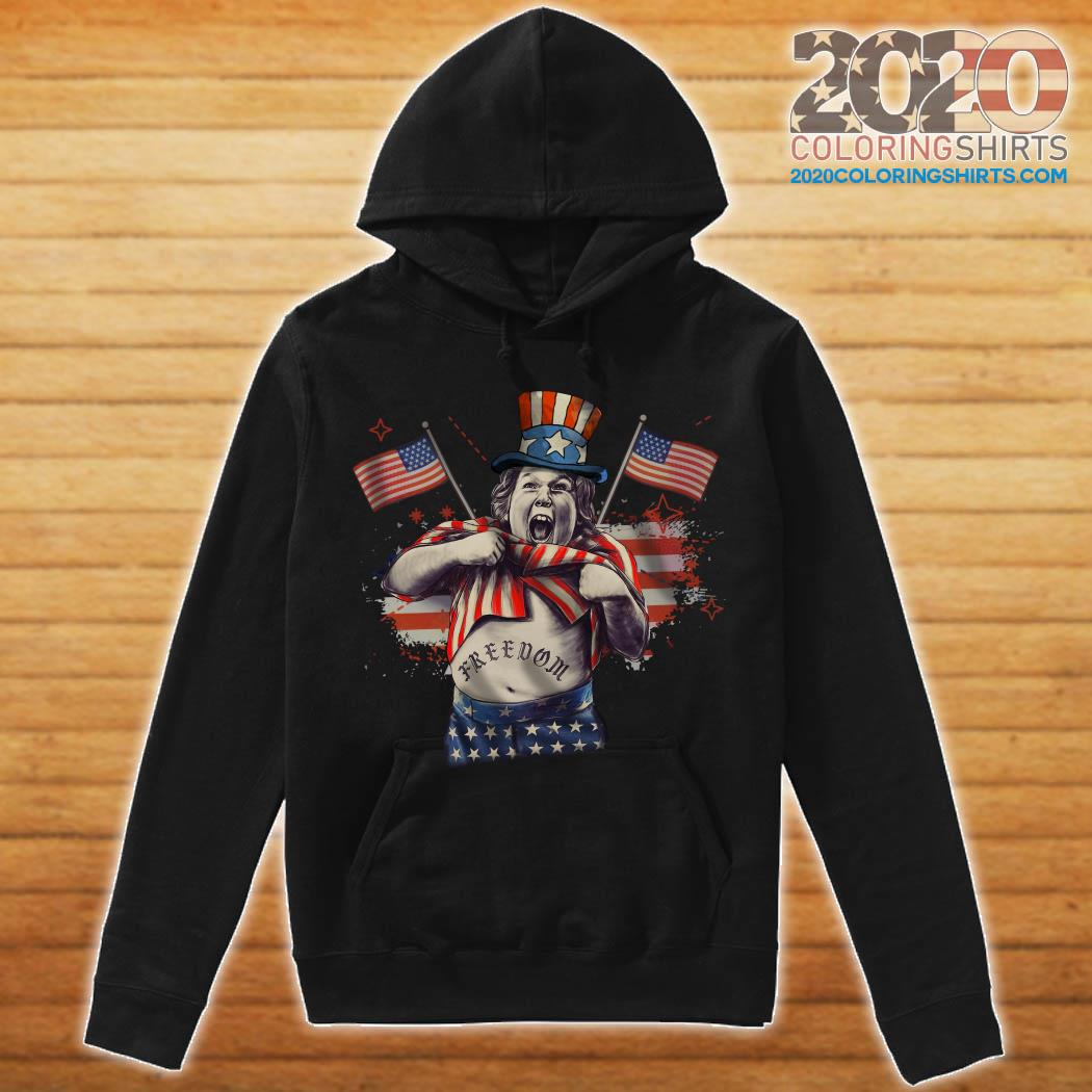 Chunk From The Goonies And Falcor Flag American Freedom Shirt hoodie