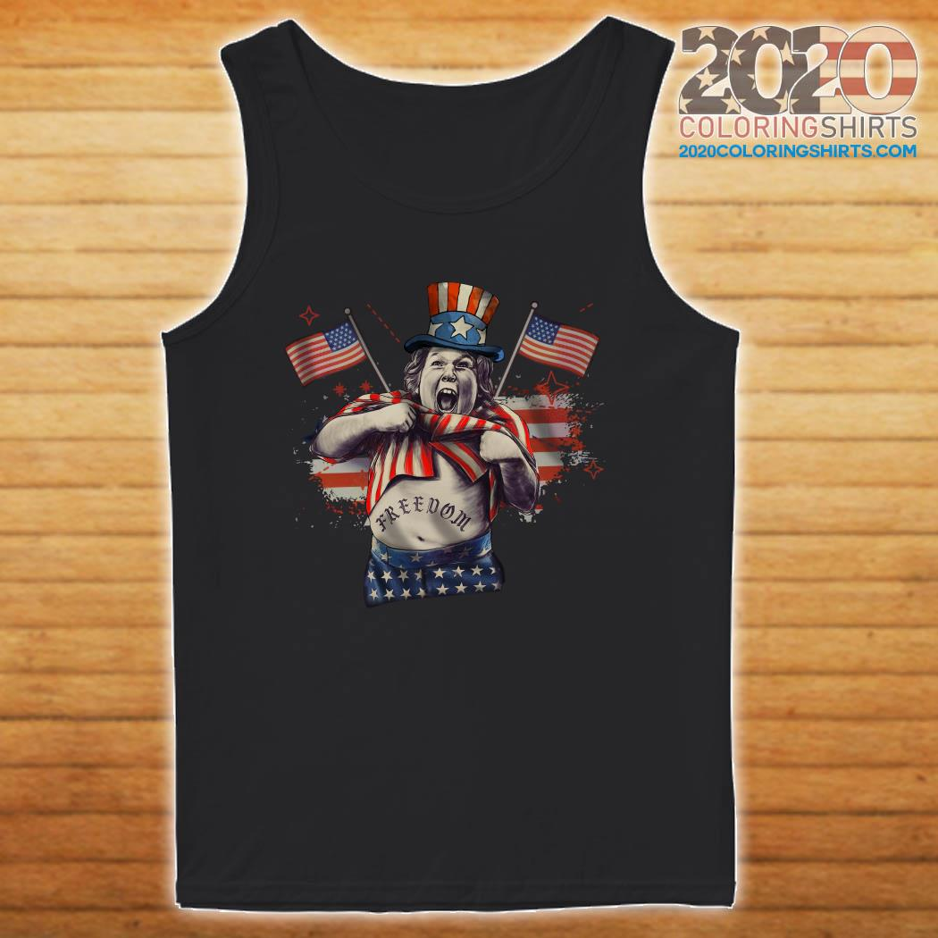 Chunk From The Goonies And Falcor Flag American Freedom Shirt tanktop