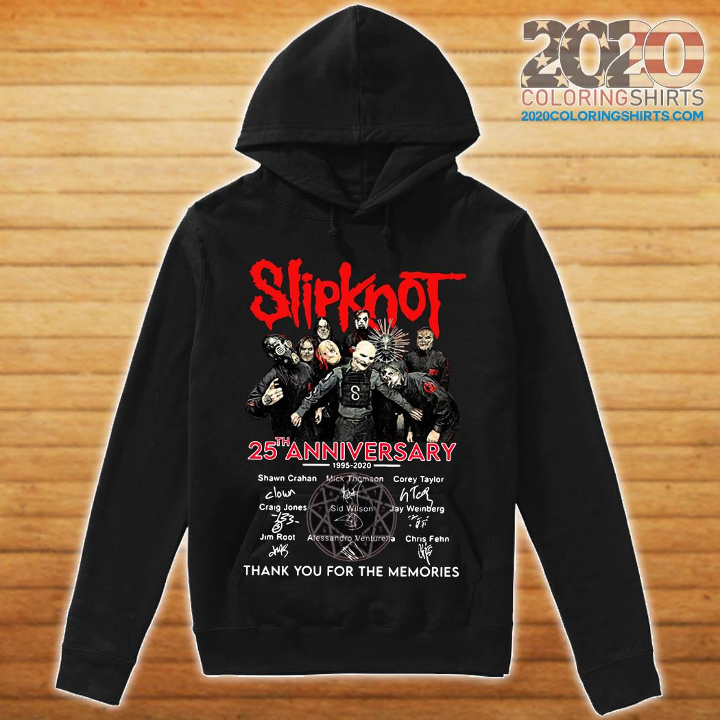 Slipknot 25th Anniversary 1995 2020 Thank You For The Memories Signatures Shirt hoodie