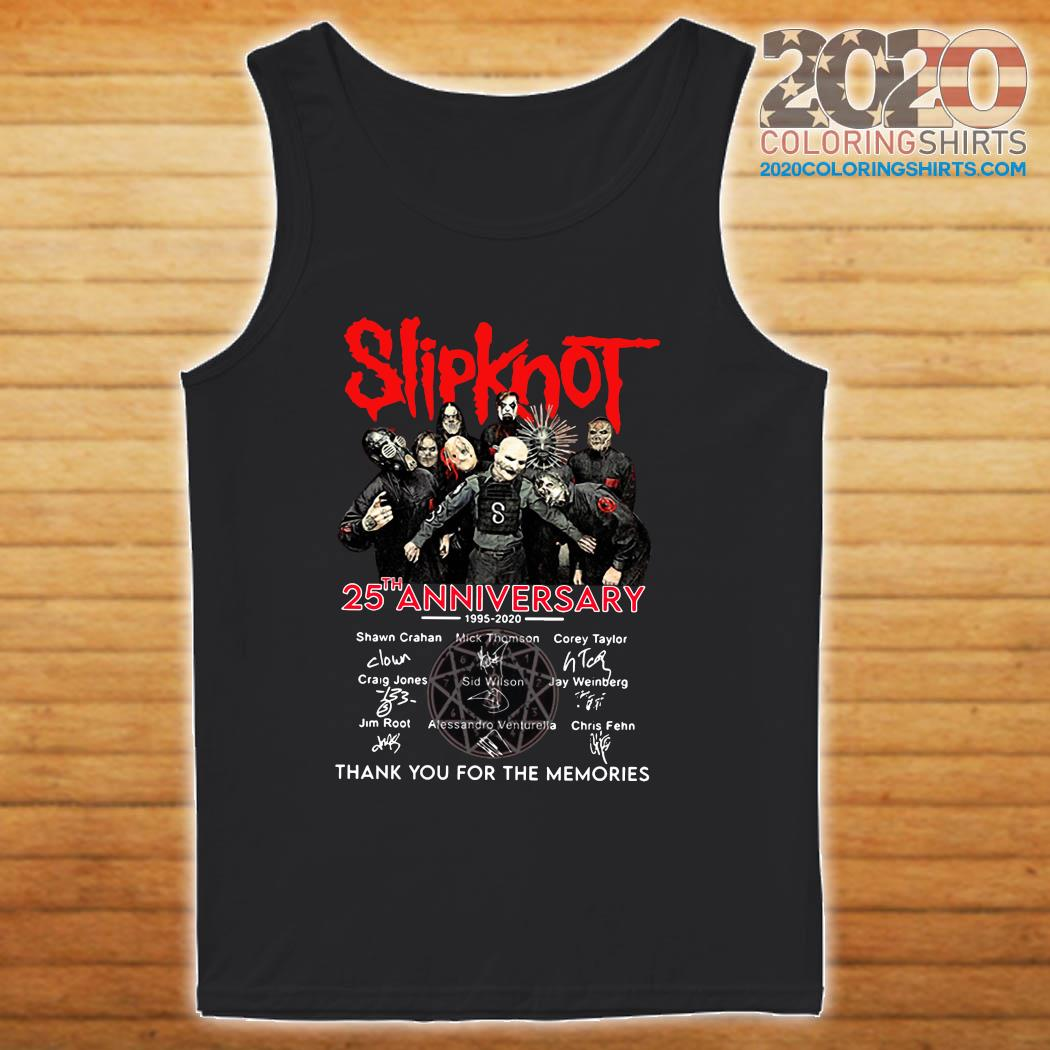 Slipknot 25th Anniversary 1995 2020 Thank You For The Memories Signatures Shirt tanktop