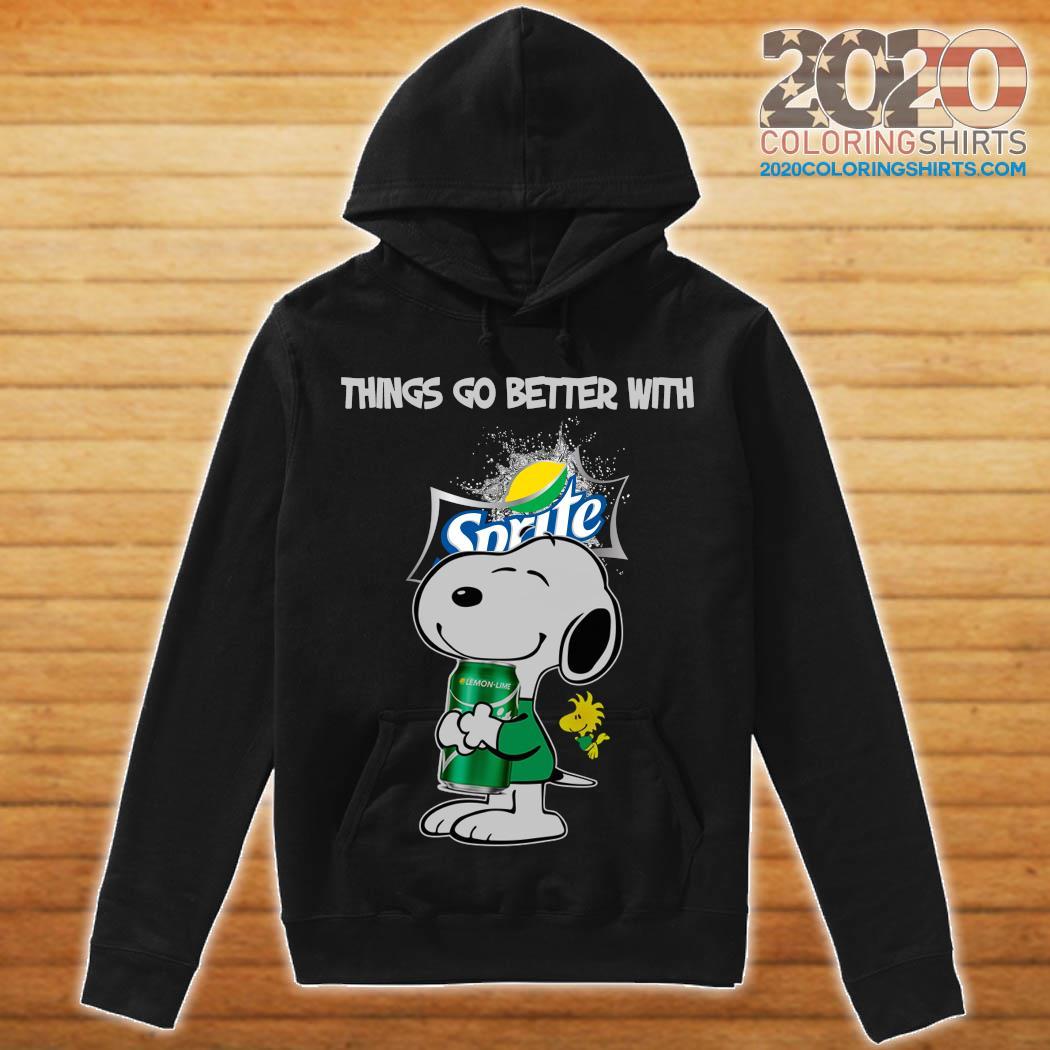 Snoopy Hug Sprite Lemon Lime Things Go Better With Sprite Shirt hoodie
