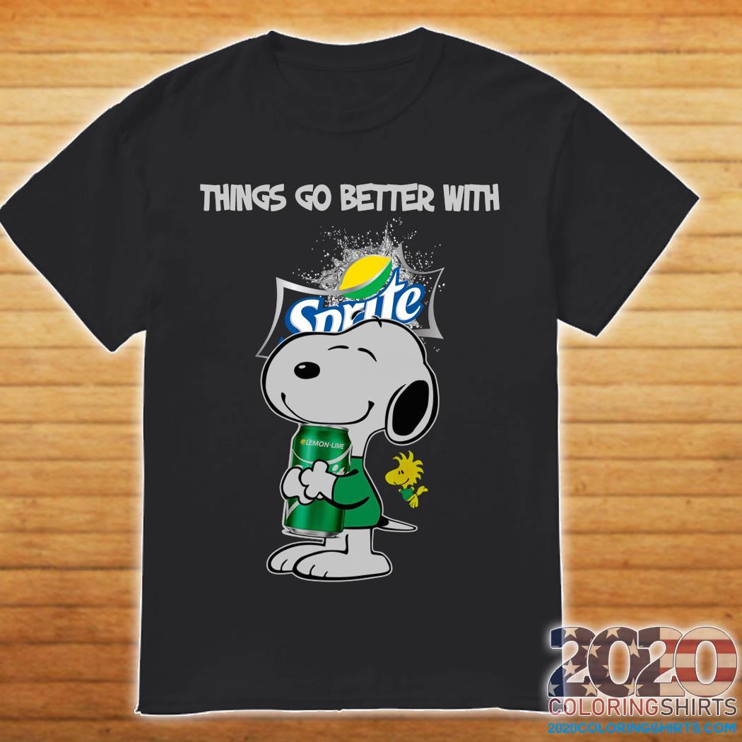 Snoopy Hug Sprite Lemon Lime Things Go Better With Sprite Shirt