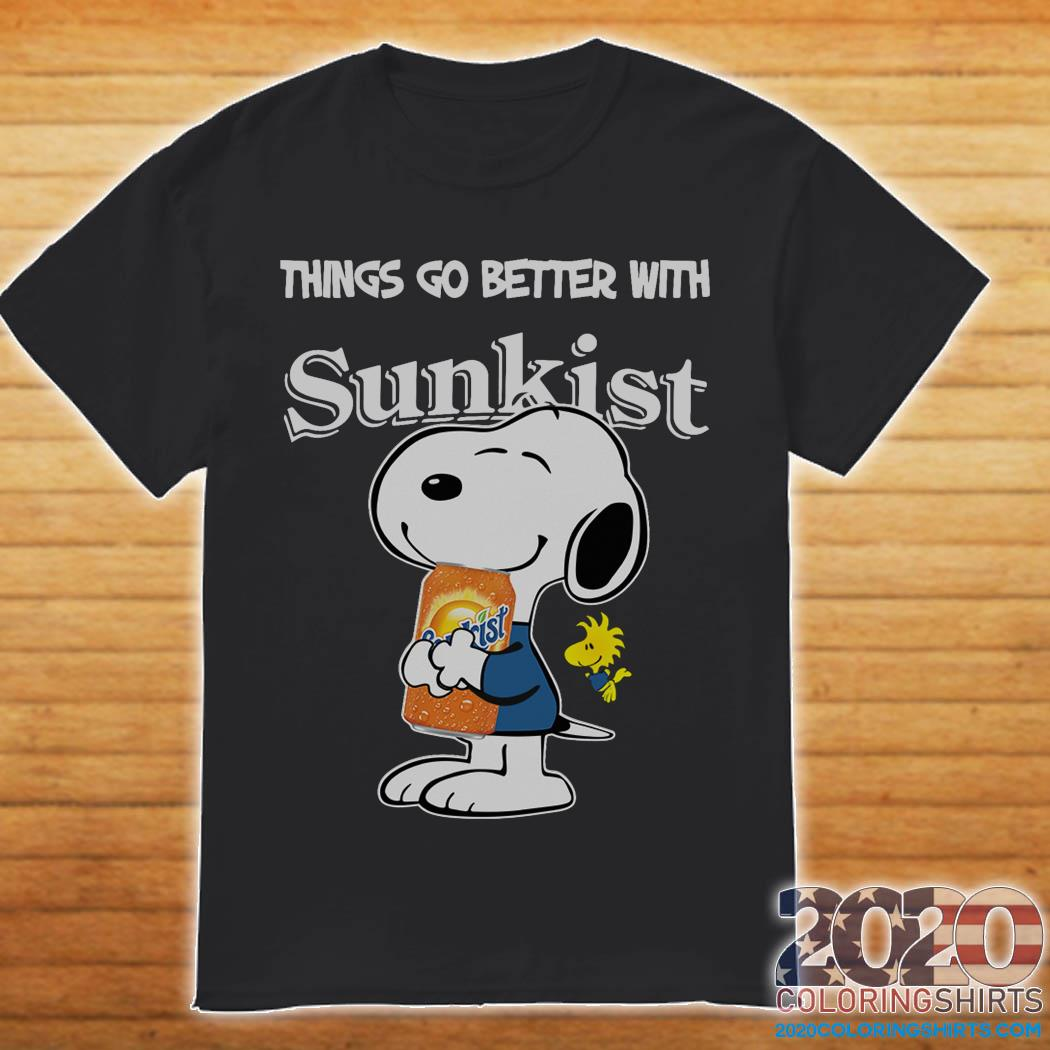 Snoopy Hug Sunkist Things Go Better With Sunkist Shirt