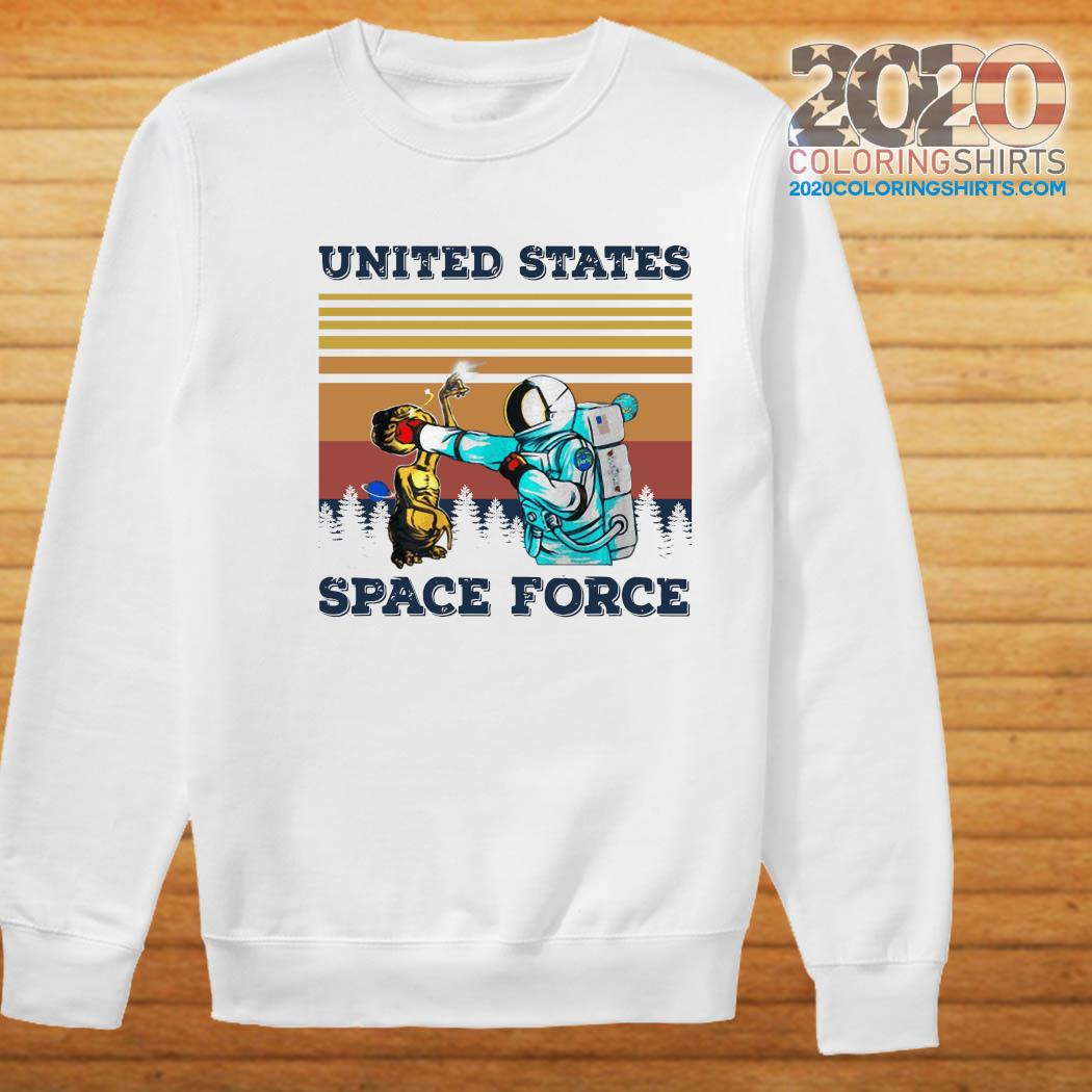 Astronaut Punch Alien In The Face United States Space Force Vintage Shirt Sweater