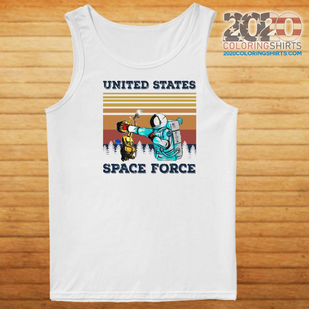 Astronaut Punch Alien In The Face United States Space Force Vintage Shirt Tank top