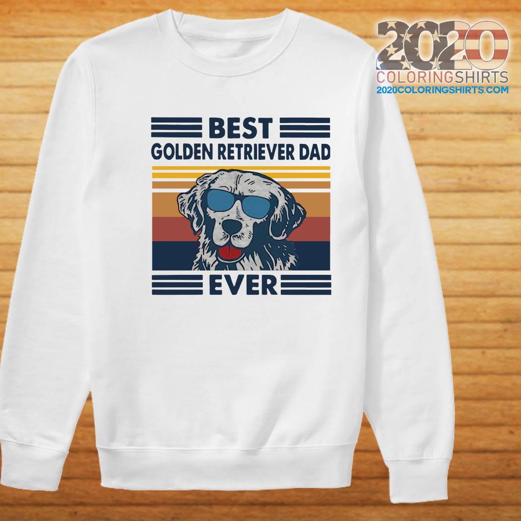 Best Golden Retriever Dad Ever Vintage Shirt Sweater