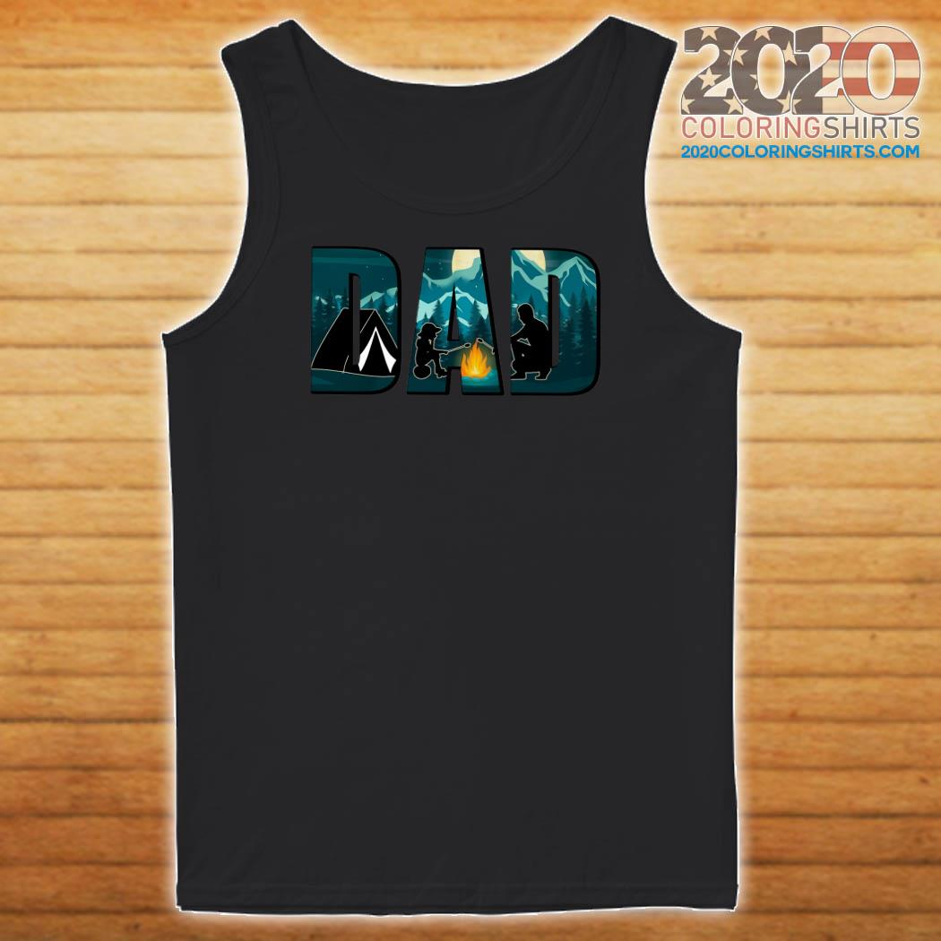 Dad Camping T-s Tank top