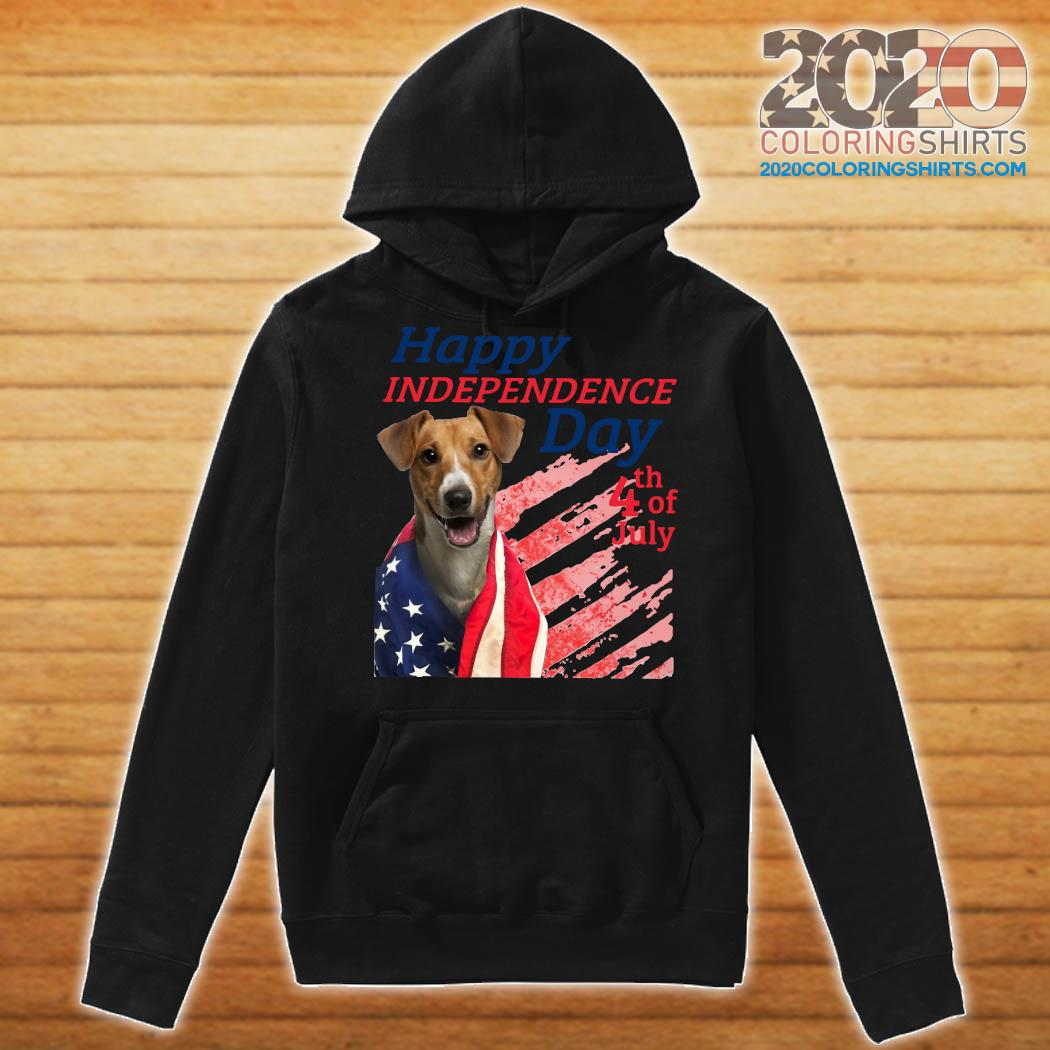 Jack Russell Terrier Happy Independence Day 4th Of July American Flag Shirt Hoodie