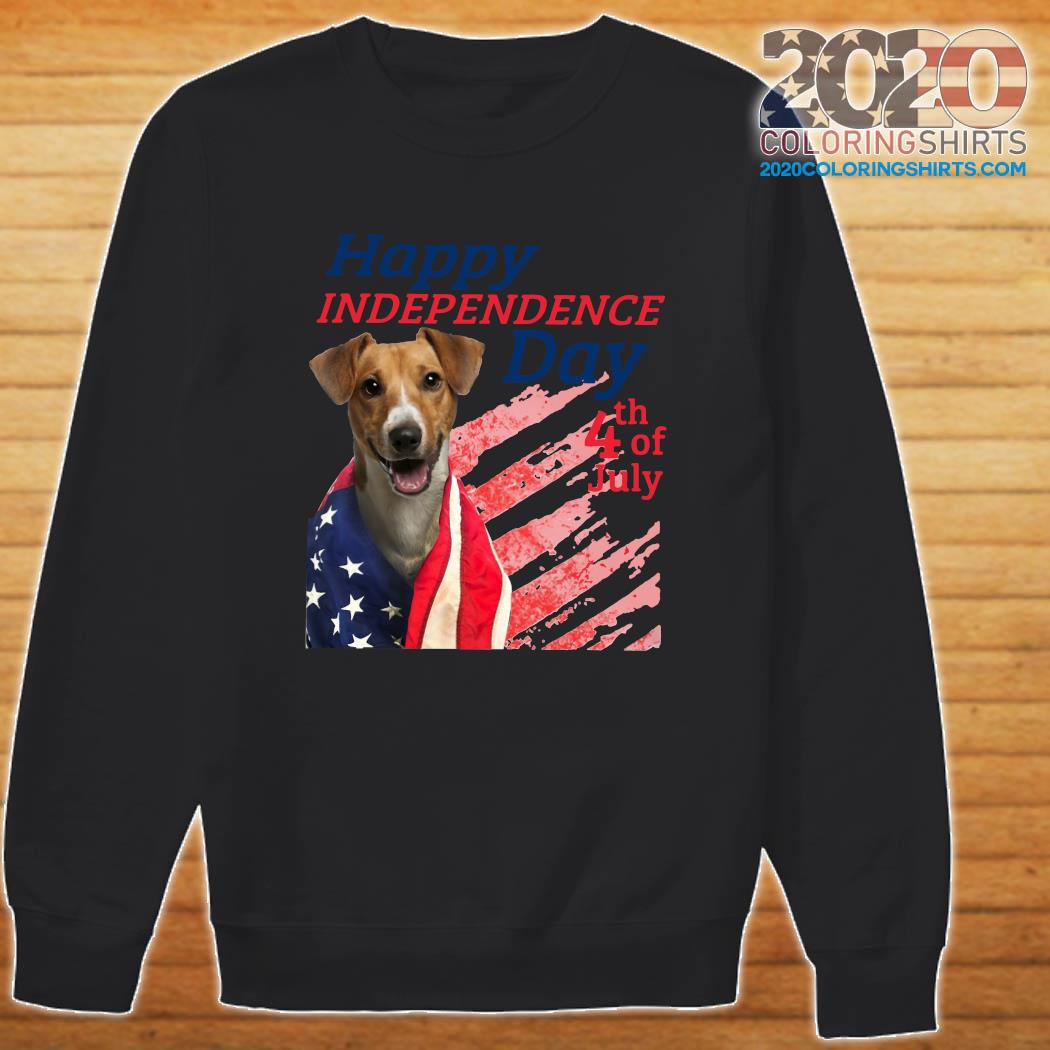 Jack Russell Terrier Happy Independence Day 4th Of July American Flag Shirt Sweater