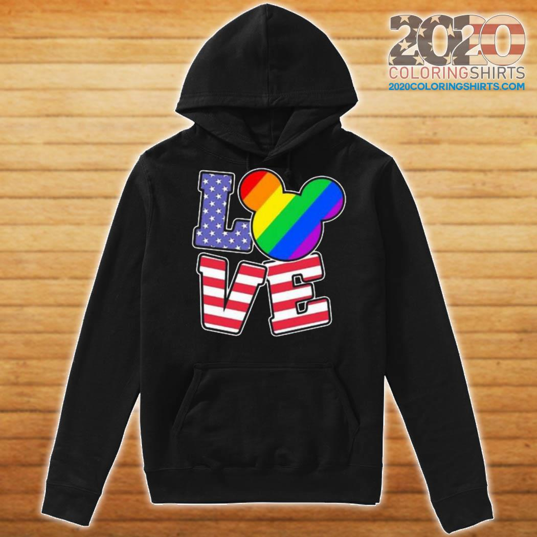 LGBT Love Mickey Mouse American Flag Shirt Hoodie