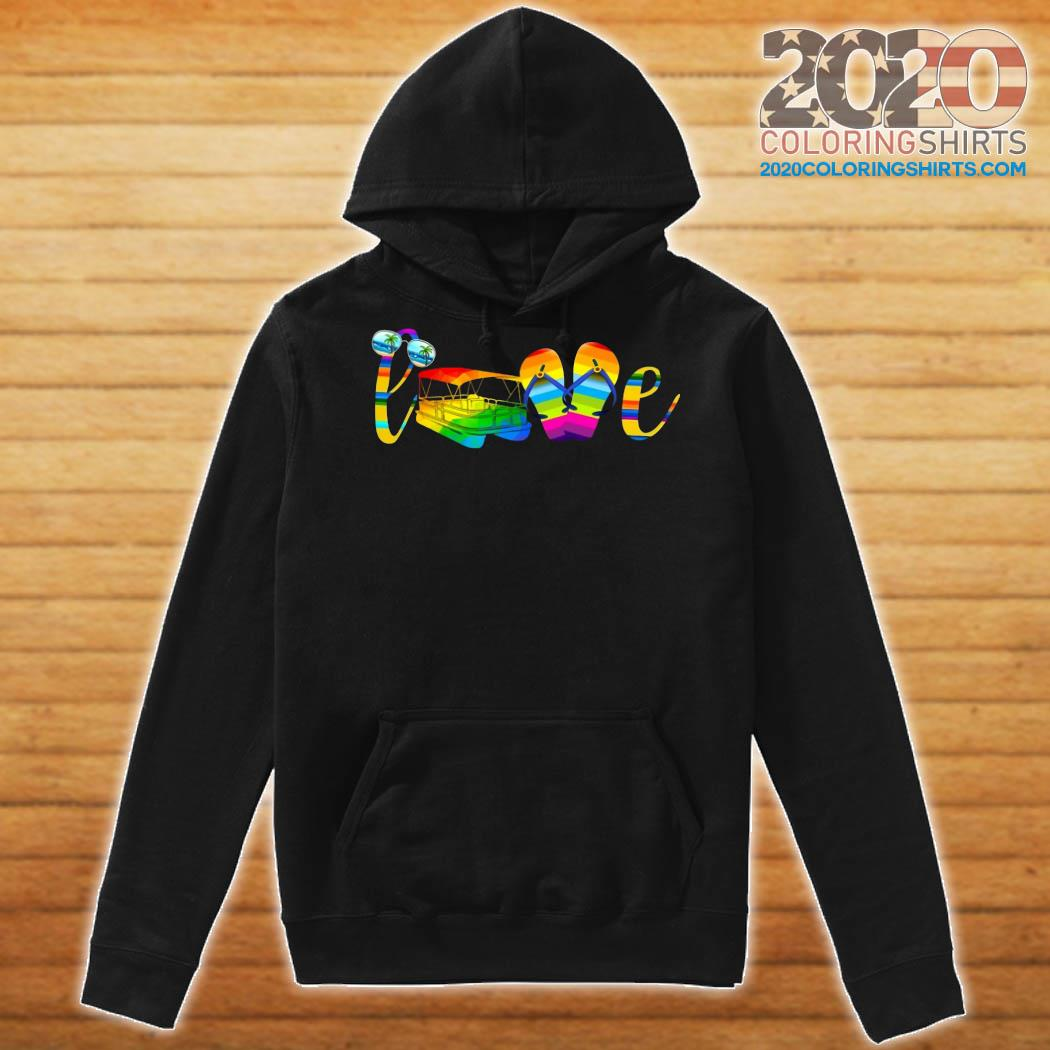 LGBT Love Sign Language Camping Shirt Hoodie