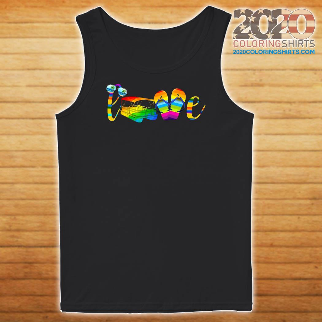 LGBT Love Sign Language Camping Shirt Tank top