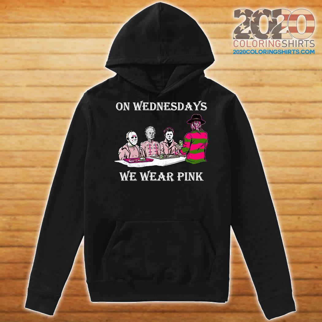 Horror Michael Myers On Wednesdays We Wear Pink Shirt Hoodie