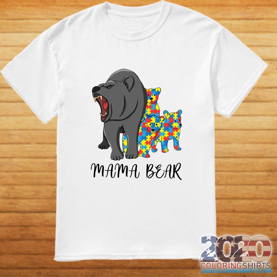 Mama Bear Autism Shirt
