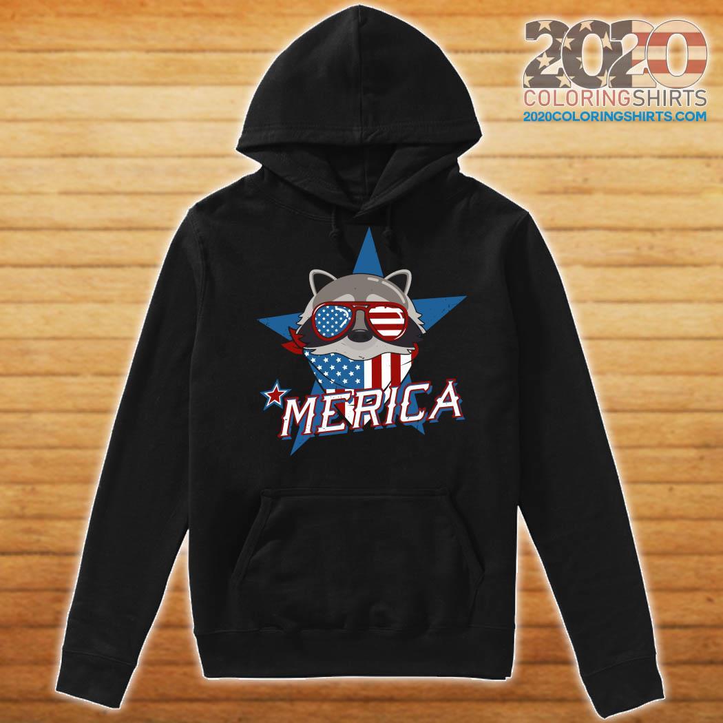 Raccoon Merica American Flag Shirt Hoodie