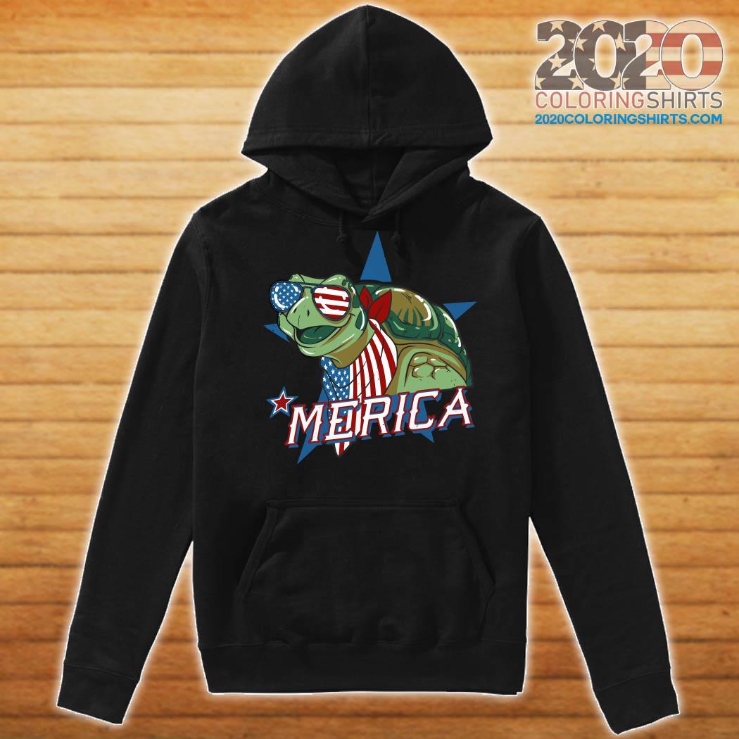 Turtle Merica American Flag Shirt Hoodie