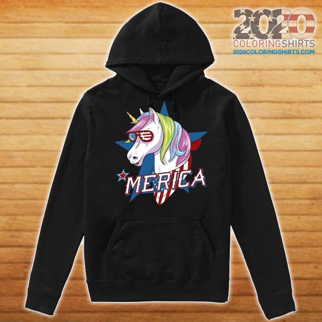 Unicorn Merica American Flag Shirt Hoodie