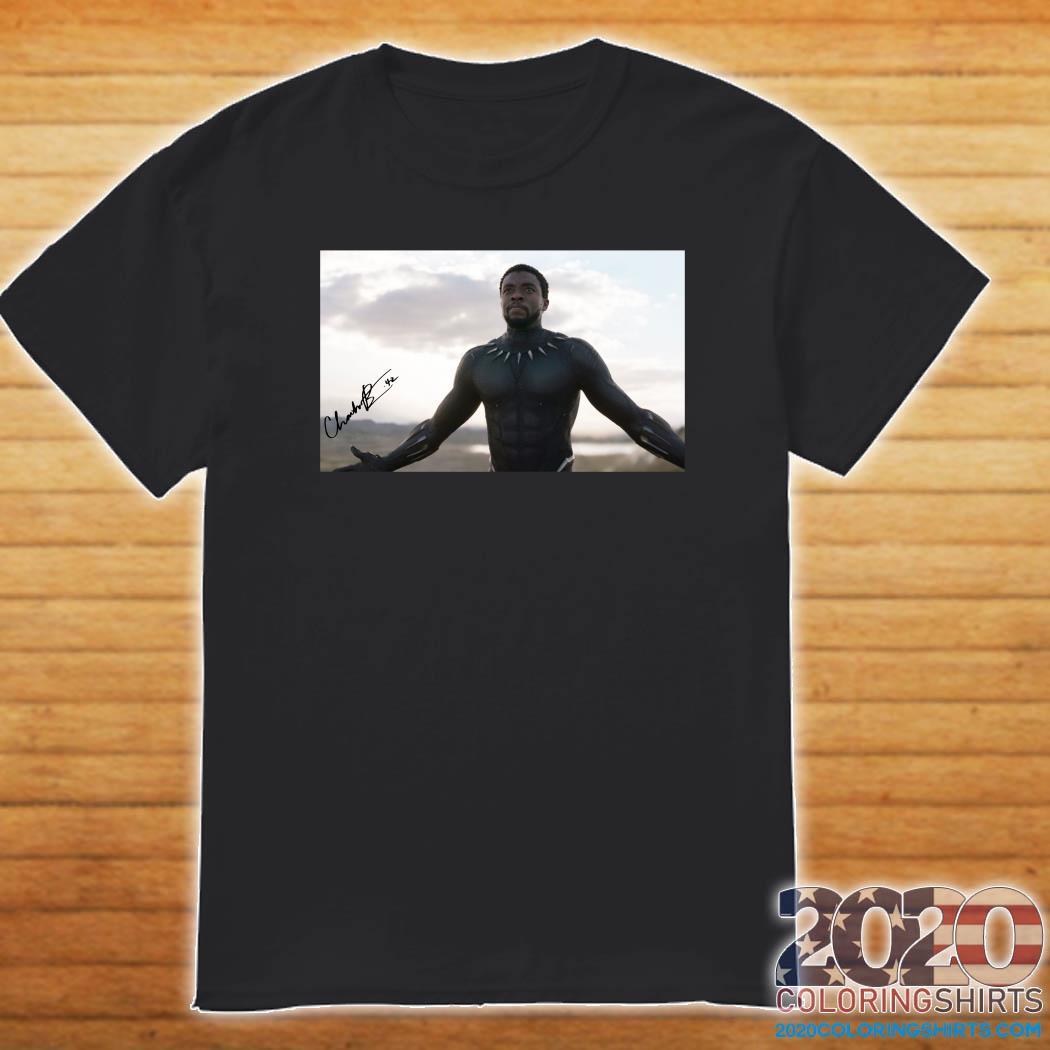 Chadwick Boseman Black Panther Signature Rip Shirt