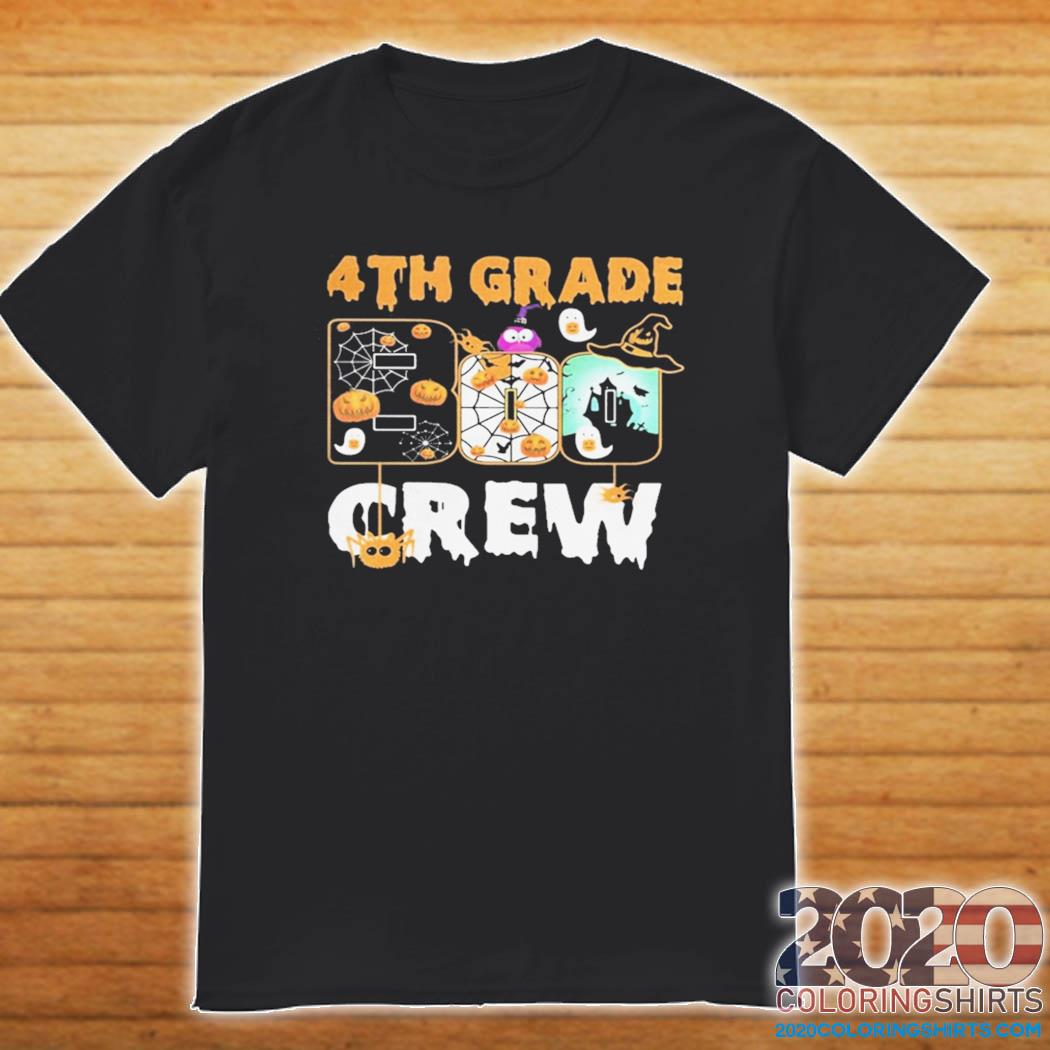 Halloween 2020 Crew Picture Halloween 4th grade boo crew shirt   2020 Coloring Shirts