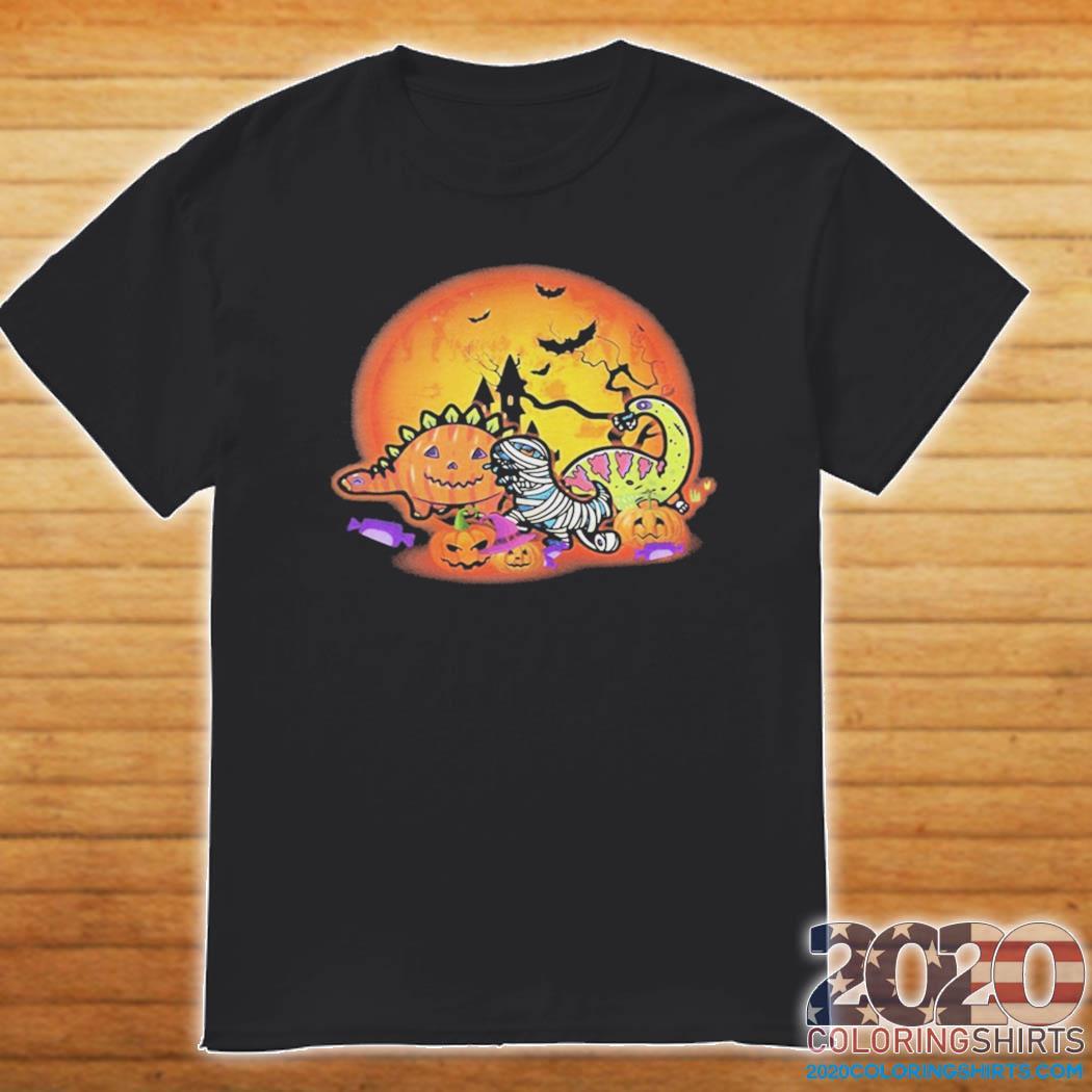 Halloween Dinosaur Pumpkin shirt