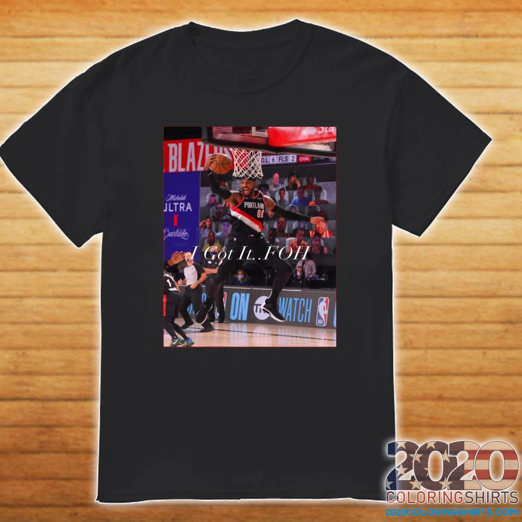 The Carmelo Anthony I Got It FOH Official T-Shirt
