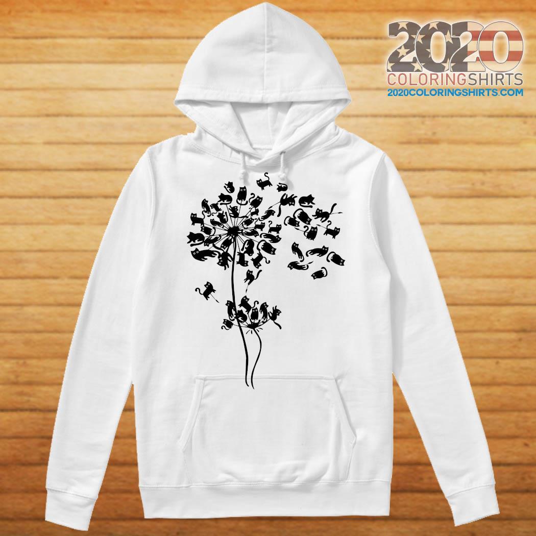 Black Cat Dandelion Flower Shirt - 2020 Coloring Shirts