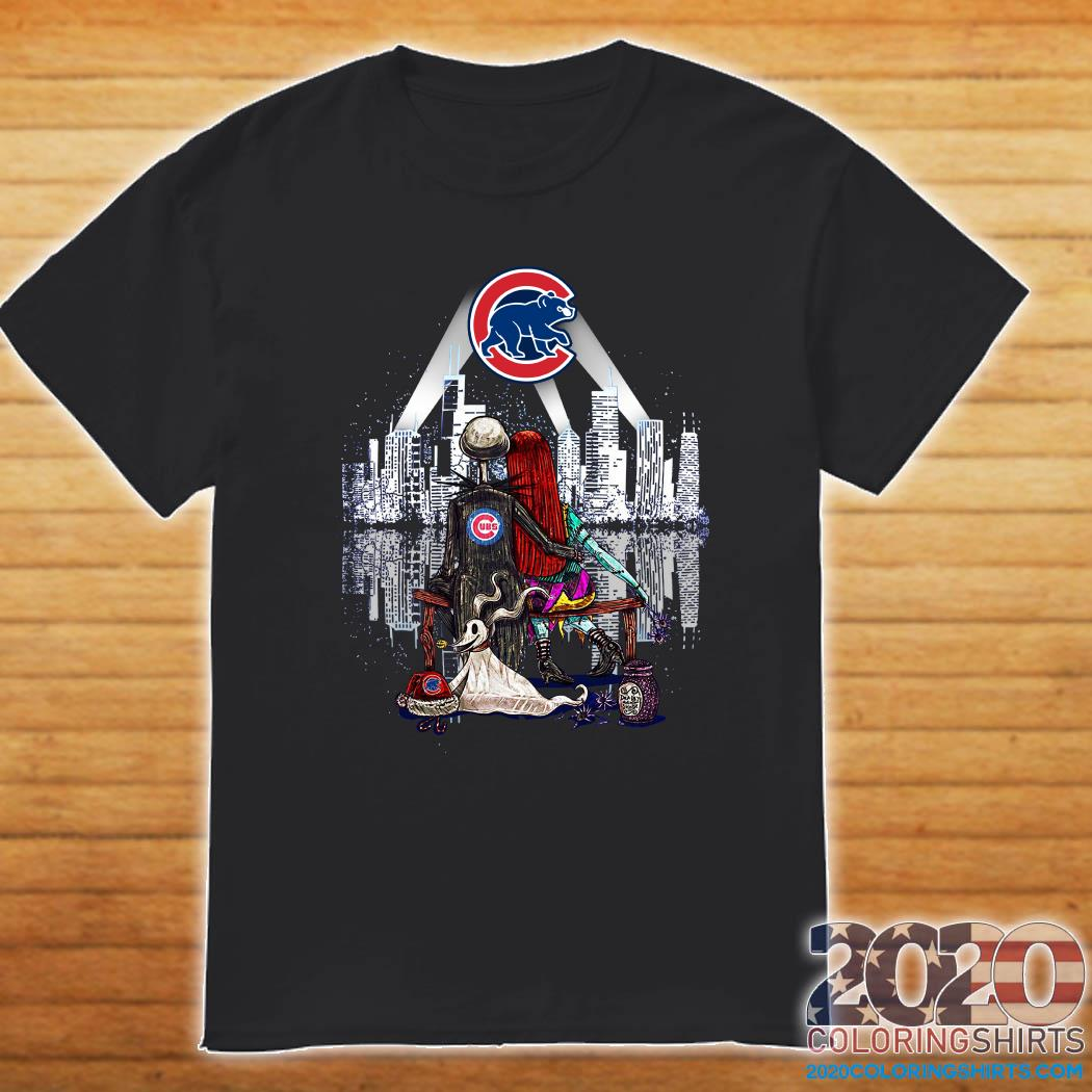 Cub Halloween 2020 Jack Skellington And Girlfriend Chicago Cubs Halloween Shirt