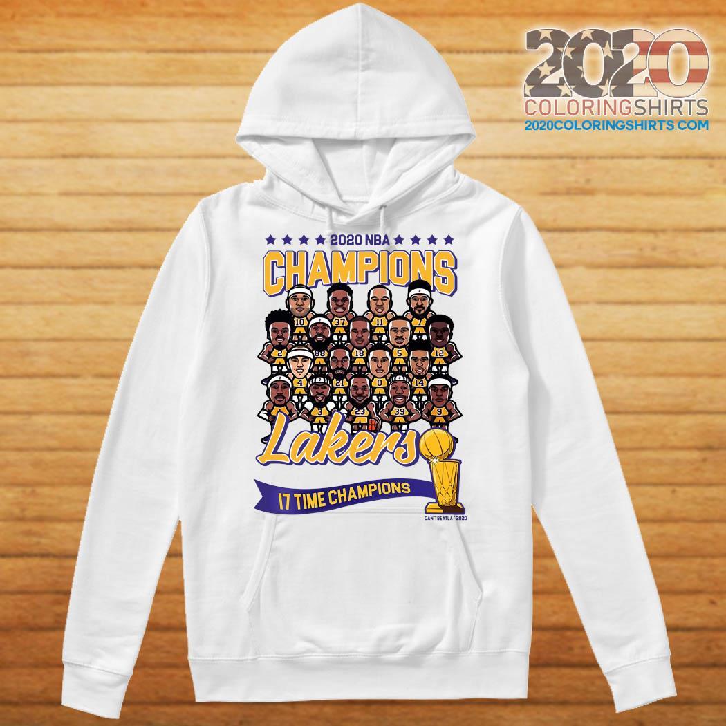 2020 NBA Champions Los Angeles Lakers 17 Time Champions Shirt Hoodie