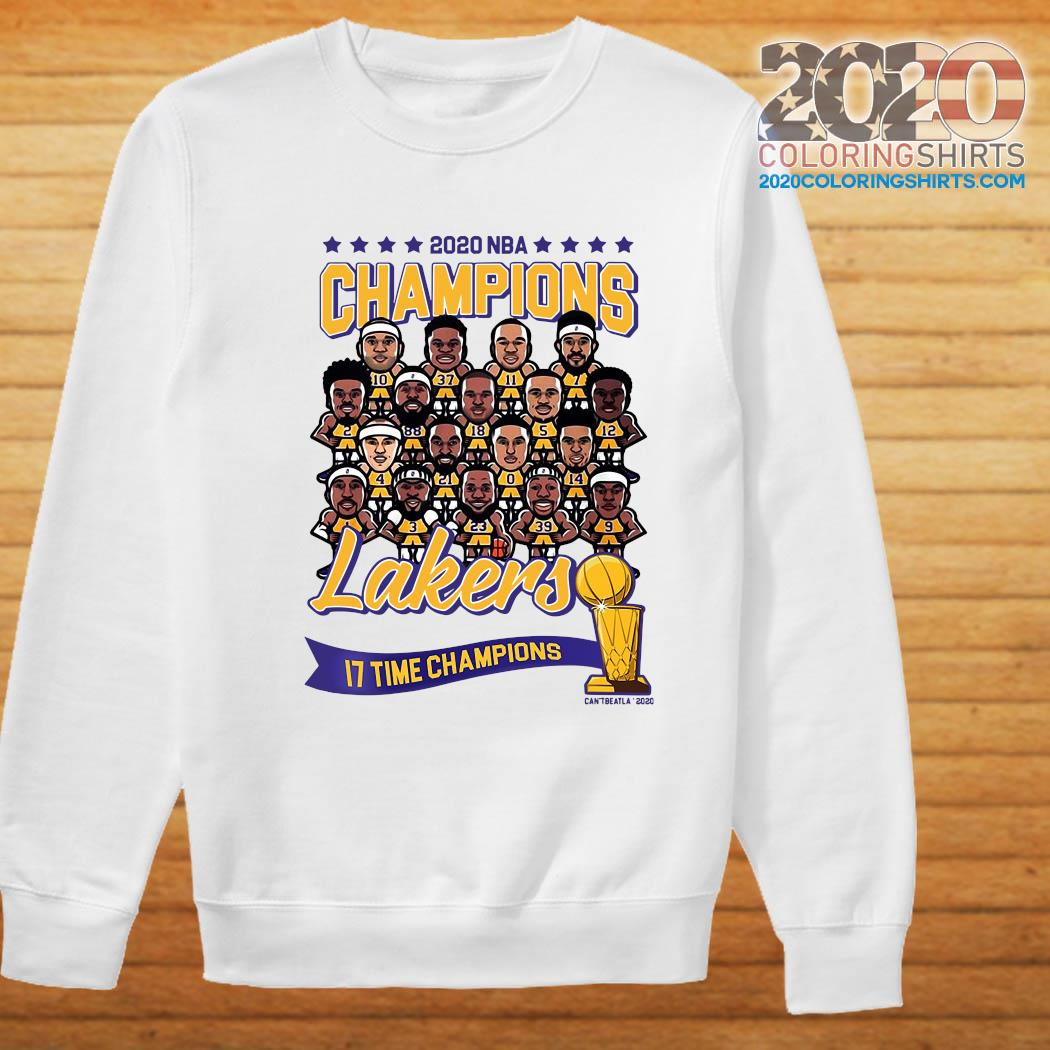 2020 NBA Champions Los Angeles Lakers 17 Time Champions Shirt Sweater