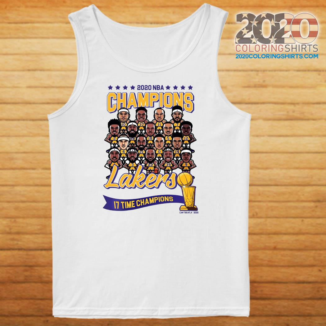 2020 NBA Champions Los Angeles Lakers 17 Time Champions Shirt Tank top