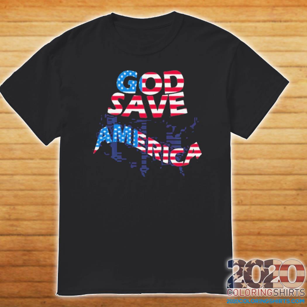 God save america patriotic american flag shirt