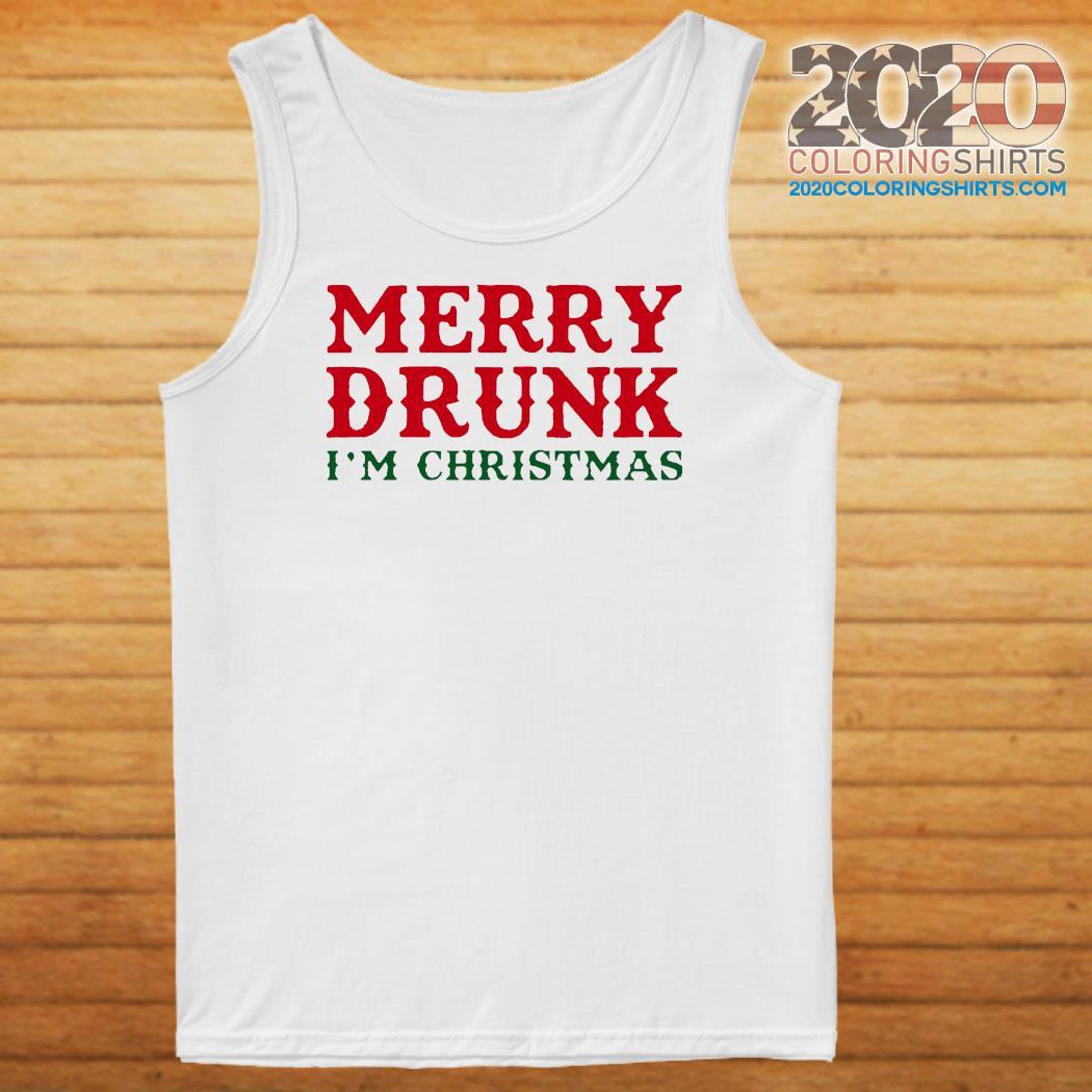 Merry Drunk I'm Christmas Colorblock Sweats Tank top
