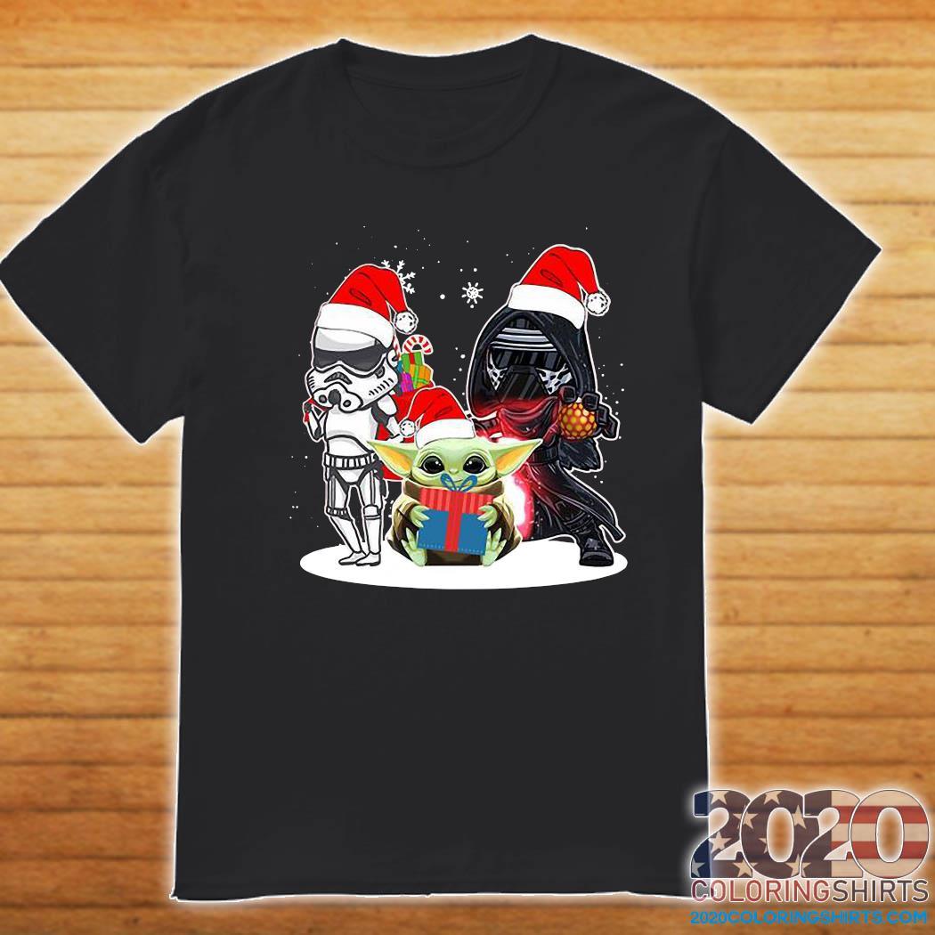 Baby Yoda And Darth Vader Stormtrooper Merry Christmas ...