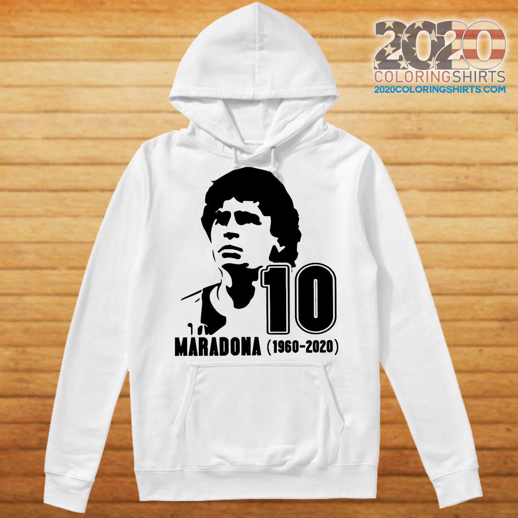 Diego Maradona 10 Rest In Peace Maradona 1960 2020 Shirt Hoodie