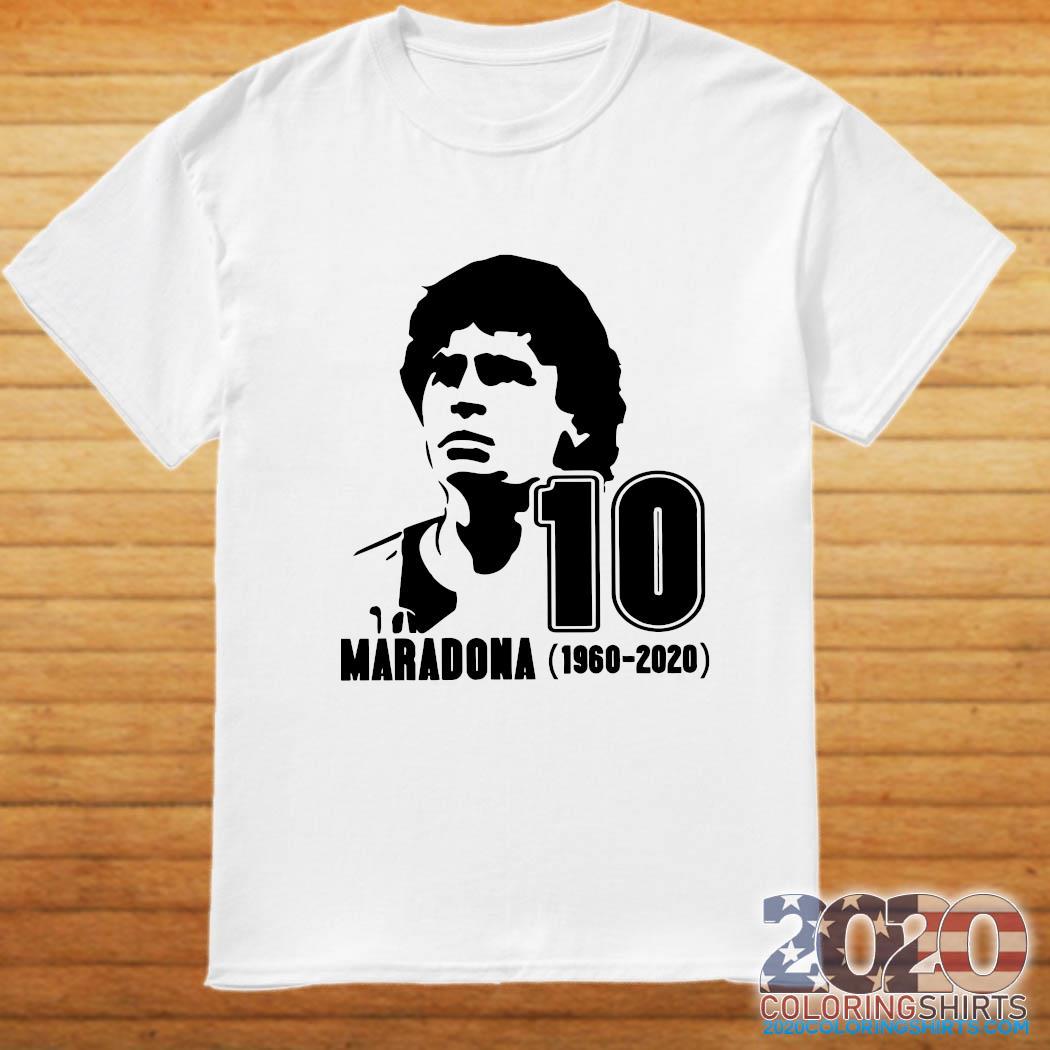 Diego Maradona 10 Rest In Peace Maradona 1960 2020 Shirt