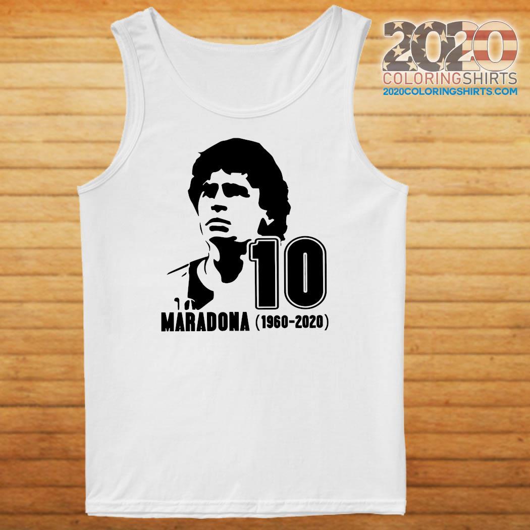 Diego Maradona 10 Rest In Peace Maradona 1960 2020 Shirt Tank top