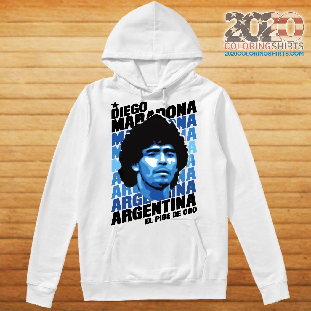 Diego Maradona Argentina El Pibe De Oro Shirt Hoodie