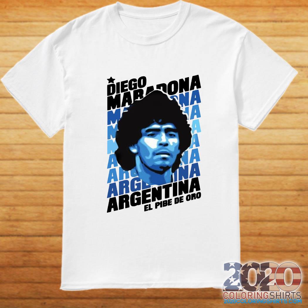 Diego Maradona Argentina El Pibe De Oro Shirt