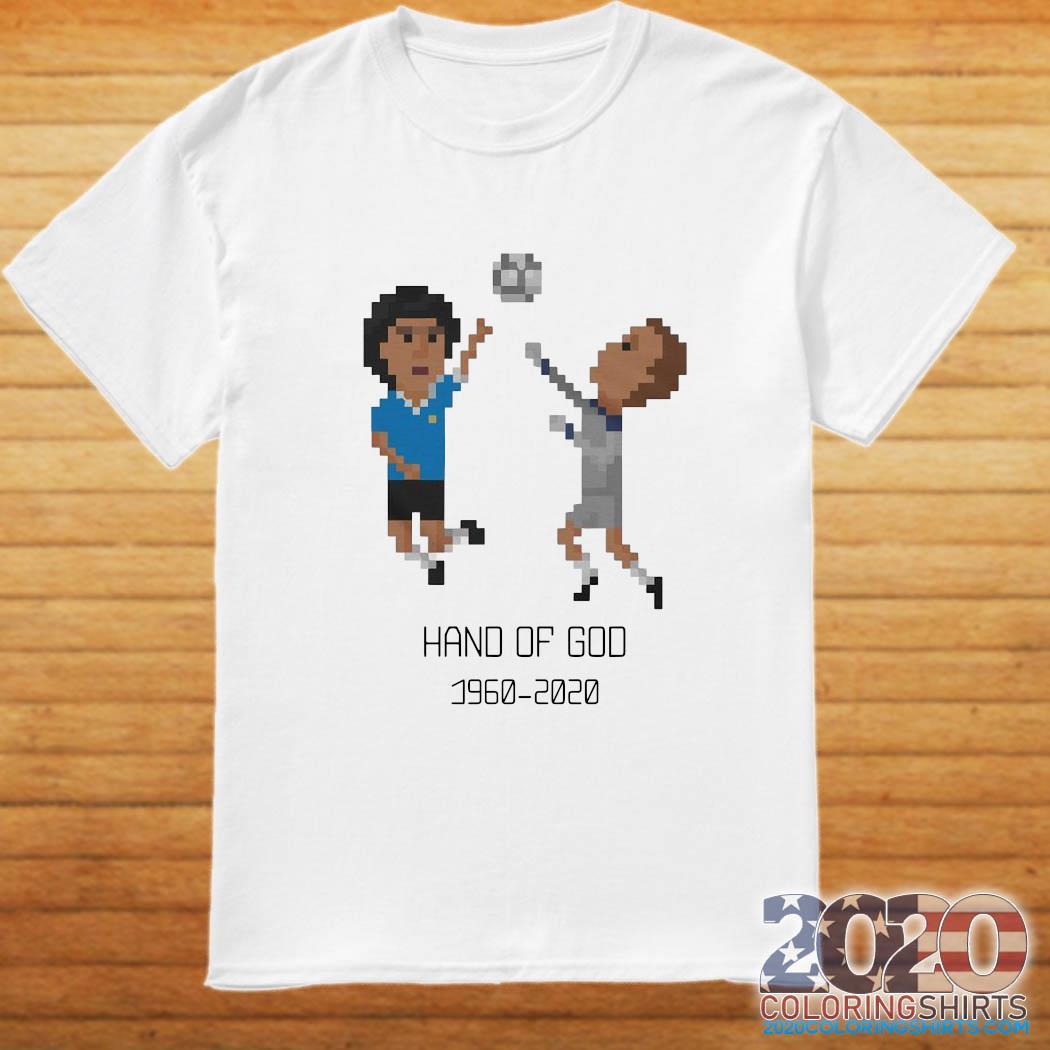Diego Maradona Hand of God 1986 World Cup American Apparel RIP Argentina Legend 1960 2020 Soccer Shirt
