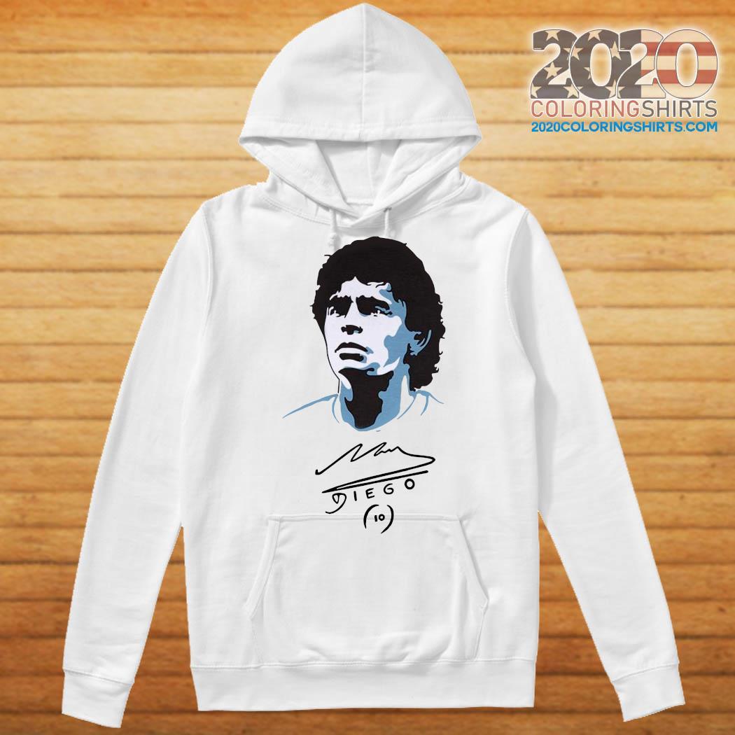 Diego Maradona Signature Shirt Hoodie