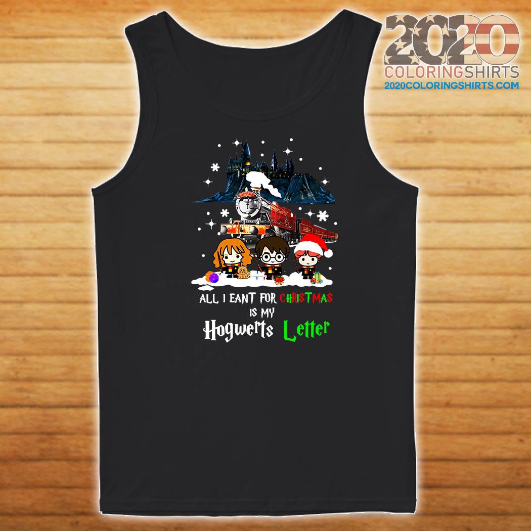 Harry Potter All I Want For Christmas Is My Hogwarts Letter Sweats Tank top