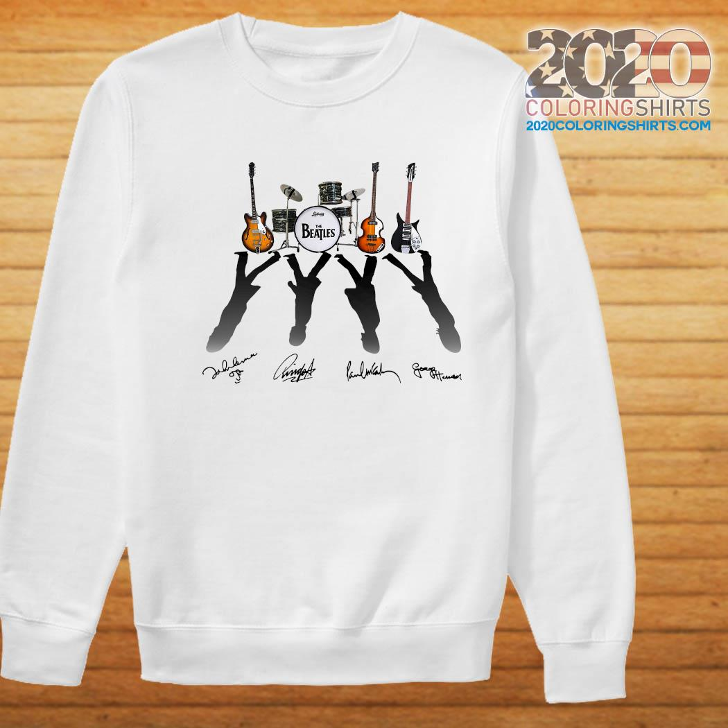 Official Ludwig The Beatles Band Guitars And Drum Signatures Shirt Sweater