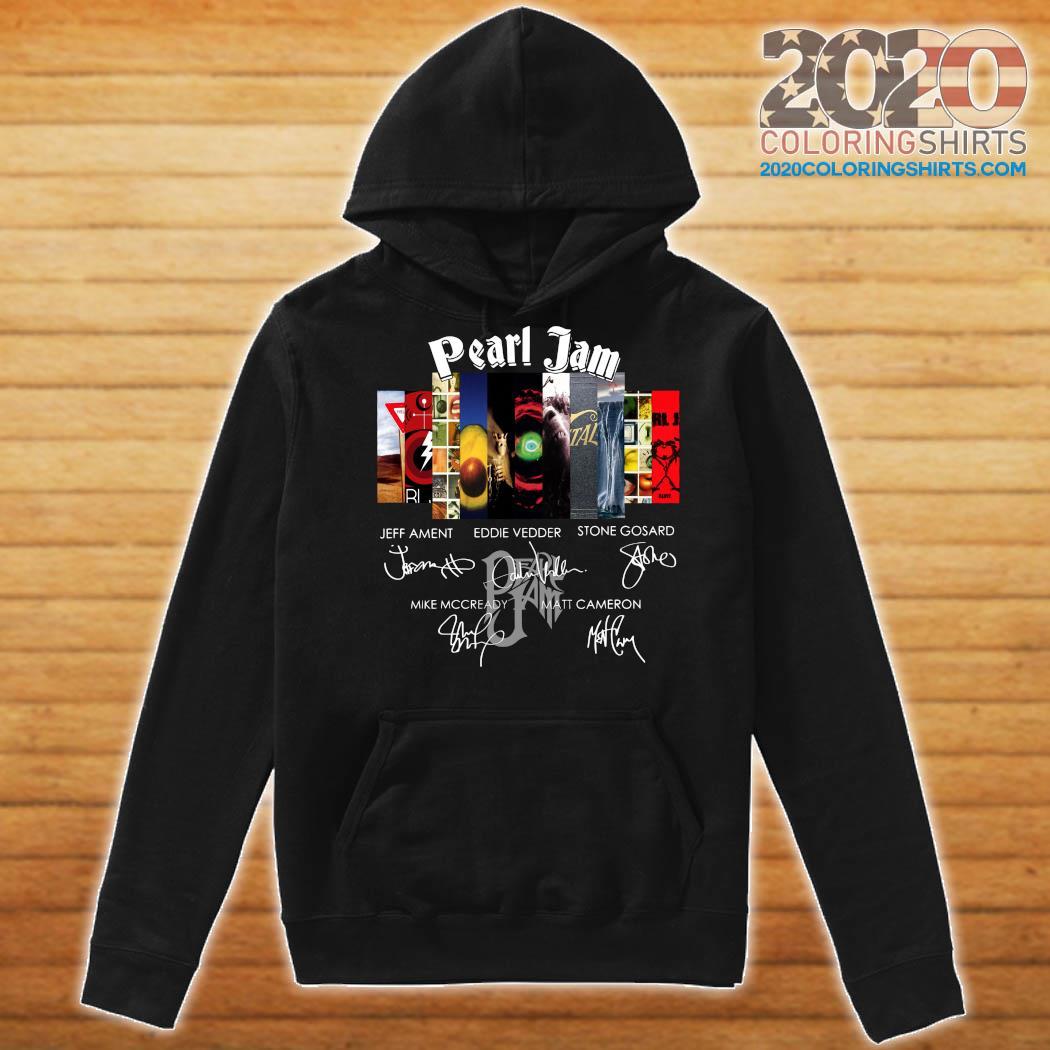Pearl Jam Logo Jeff Ament Eddie Vedder Stone Gossard Signatures Shirt Hoodie