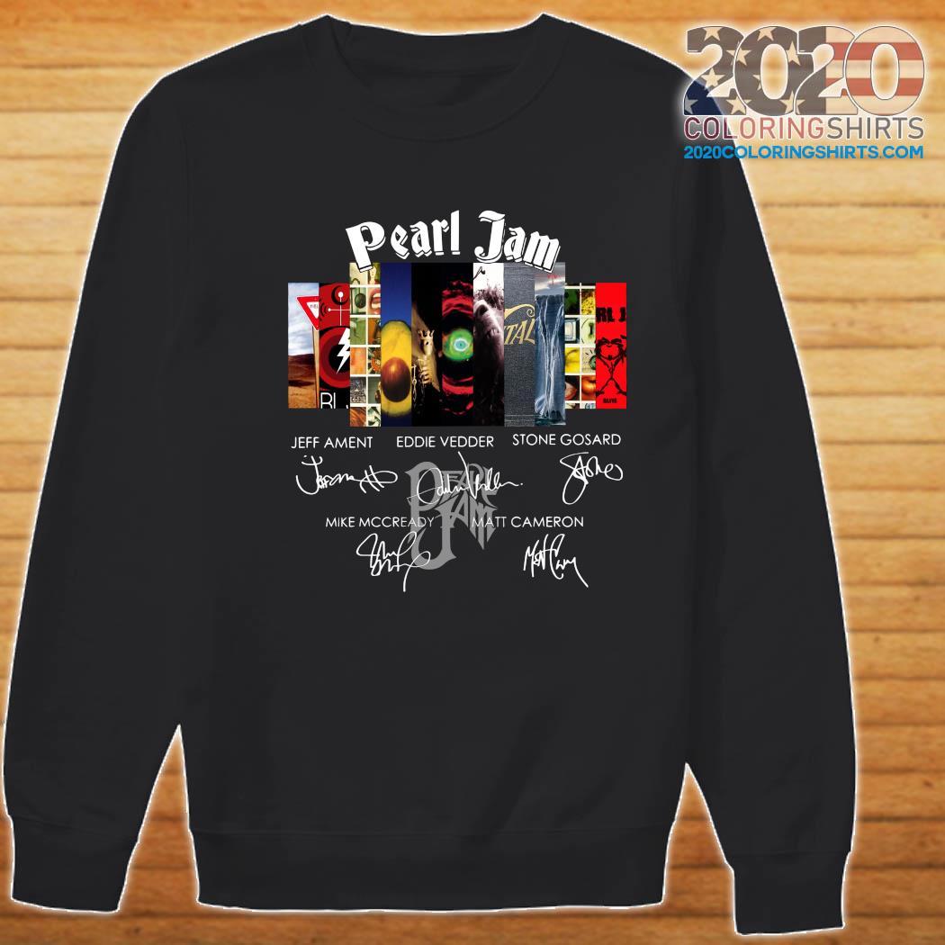 Pearl Jam Logo Jeff Ament Eddie Vedder Stone Gossard Signatures Shirt