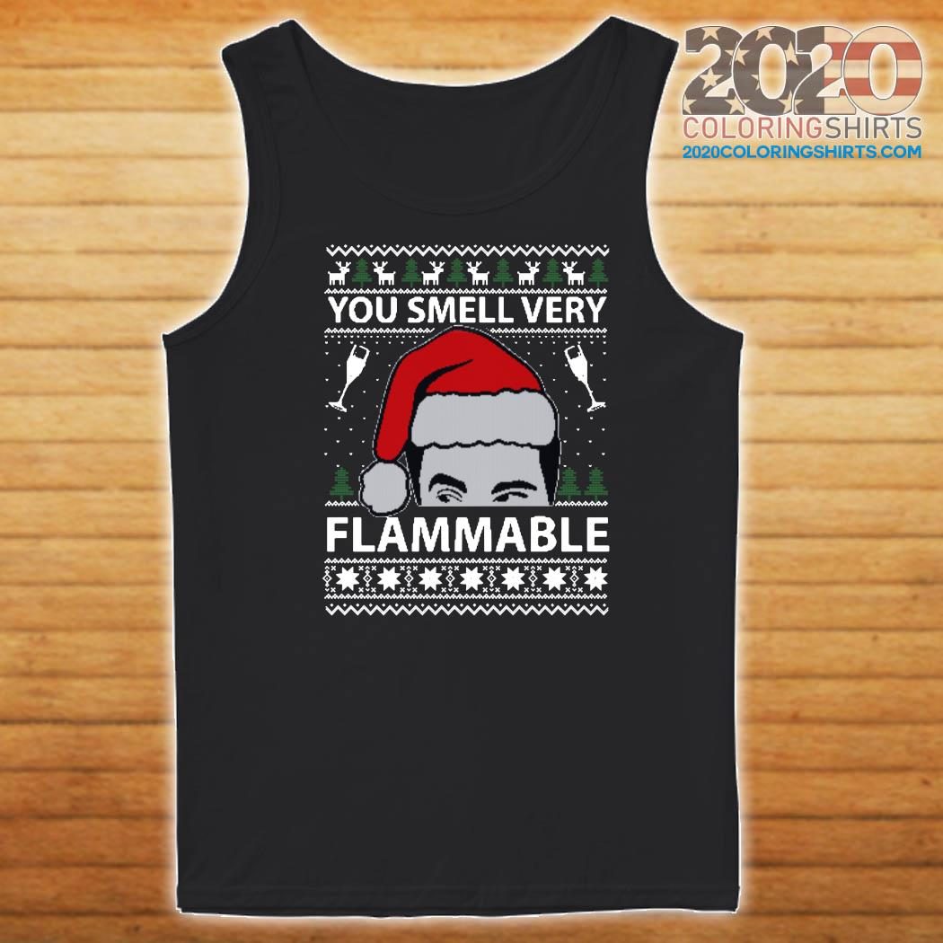You Smell Very Flammable Schitt's Creek Ugly Christmas Sweats Tank top