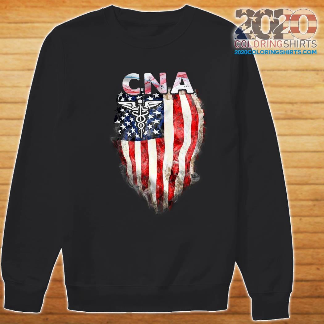 Cna Gift American Flag Shirt