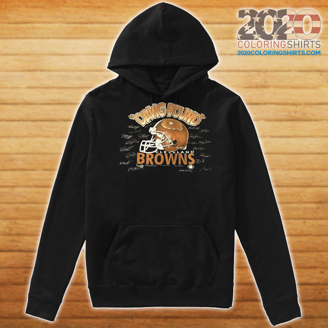 Dawg Pound Cleveland Browns Signatures Shirt Hoodie