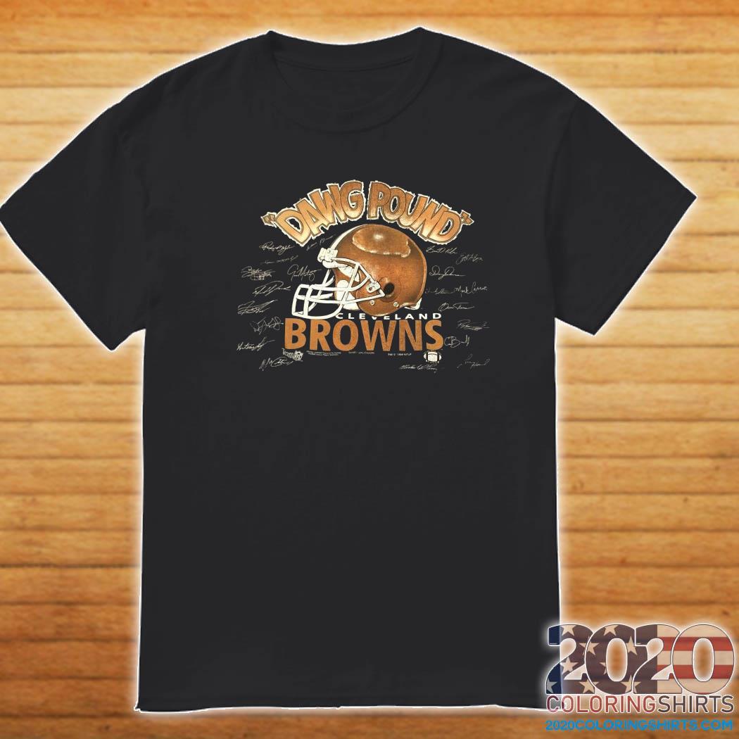 Dawg Pound Cleveland Browns Signatures Shirt Shirt