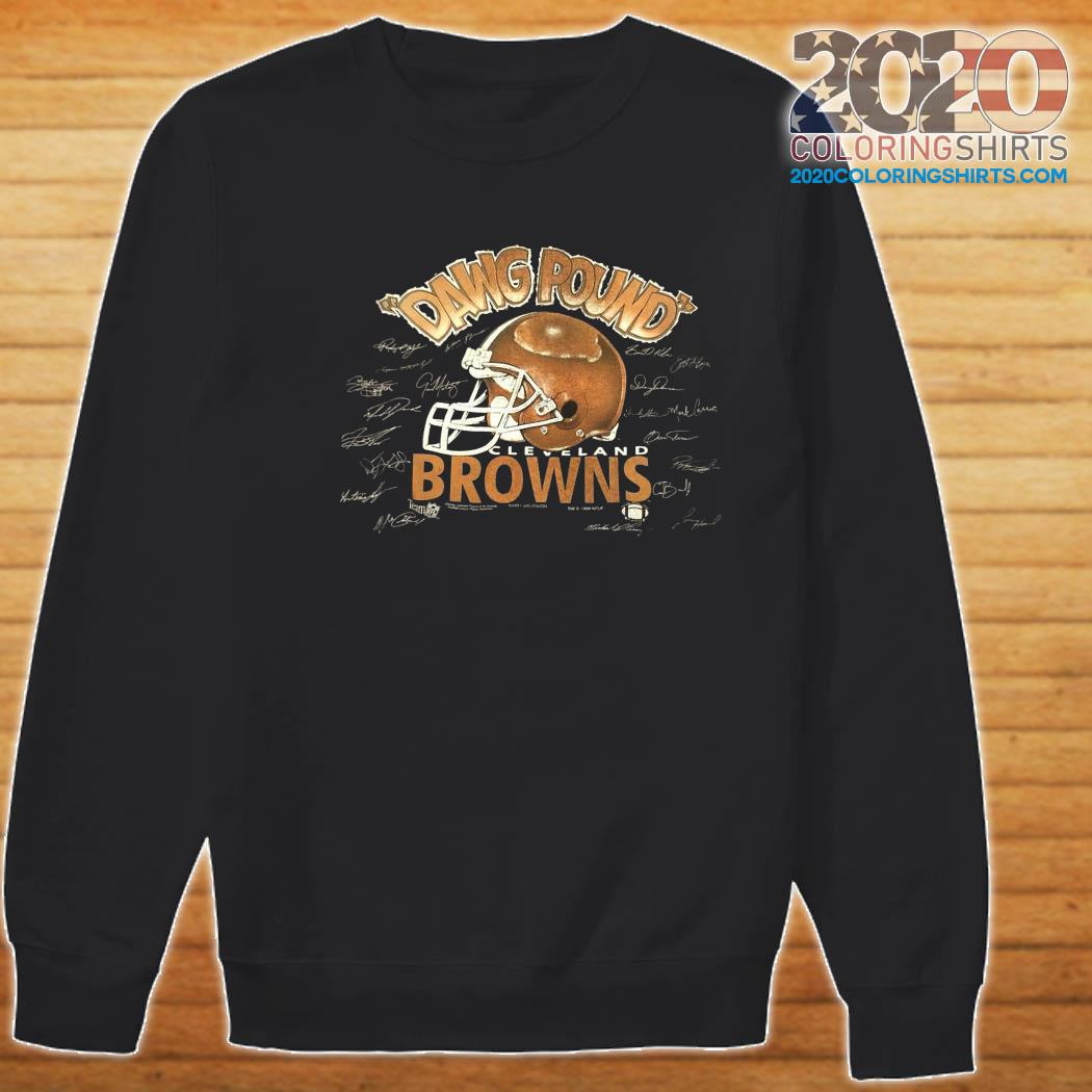 Dawg Pound Cleveland Browns Signatures Shirt